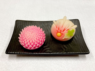 はさみ菊・針切り菊 和菓子 ねりきり